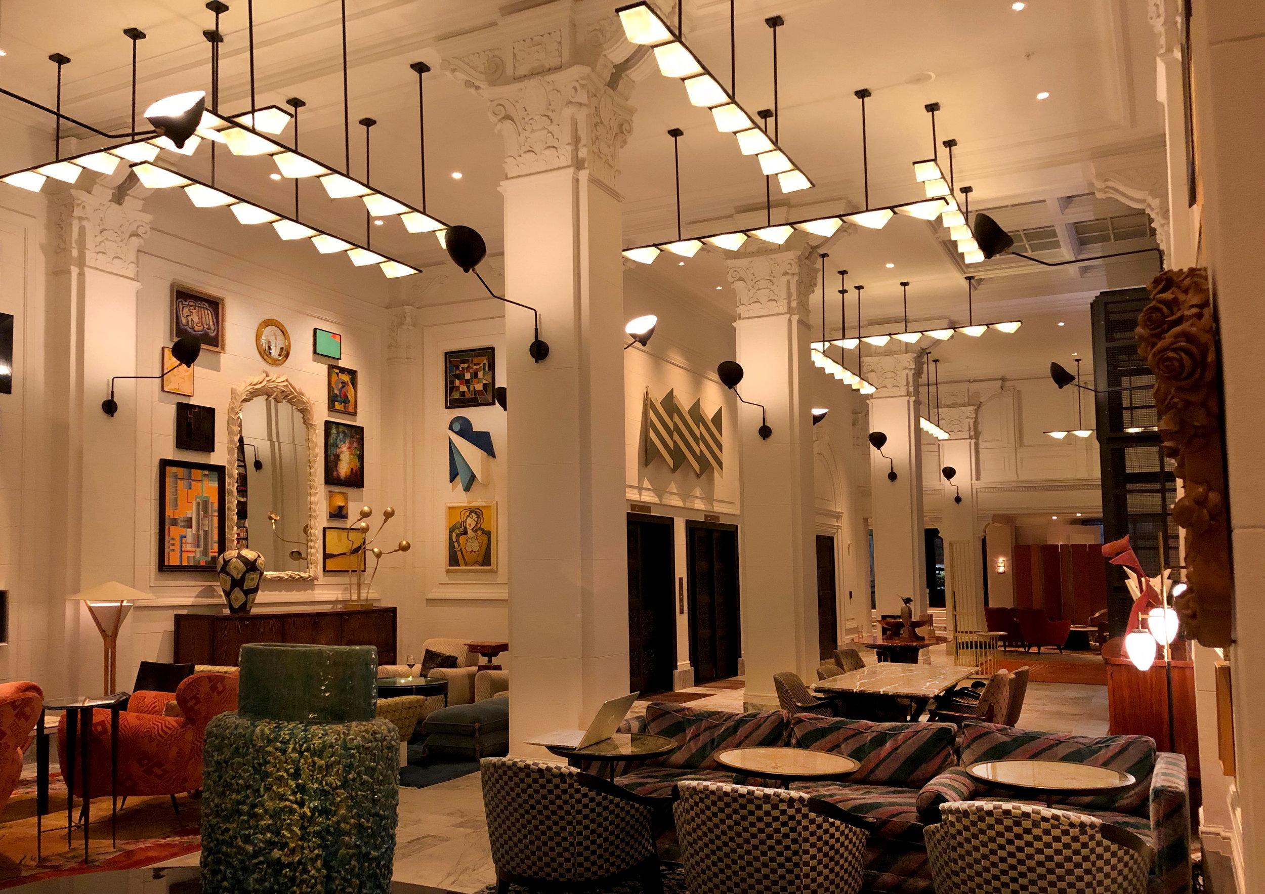 proper hotel vortex lighting