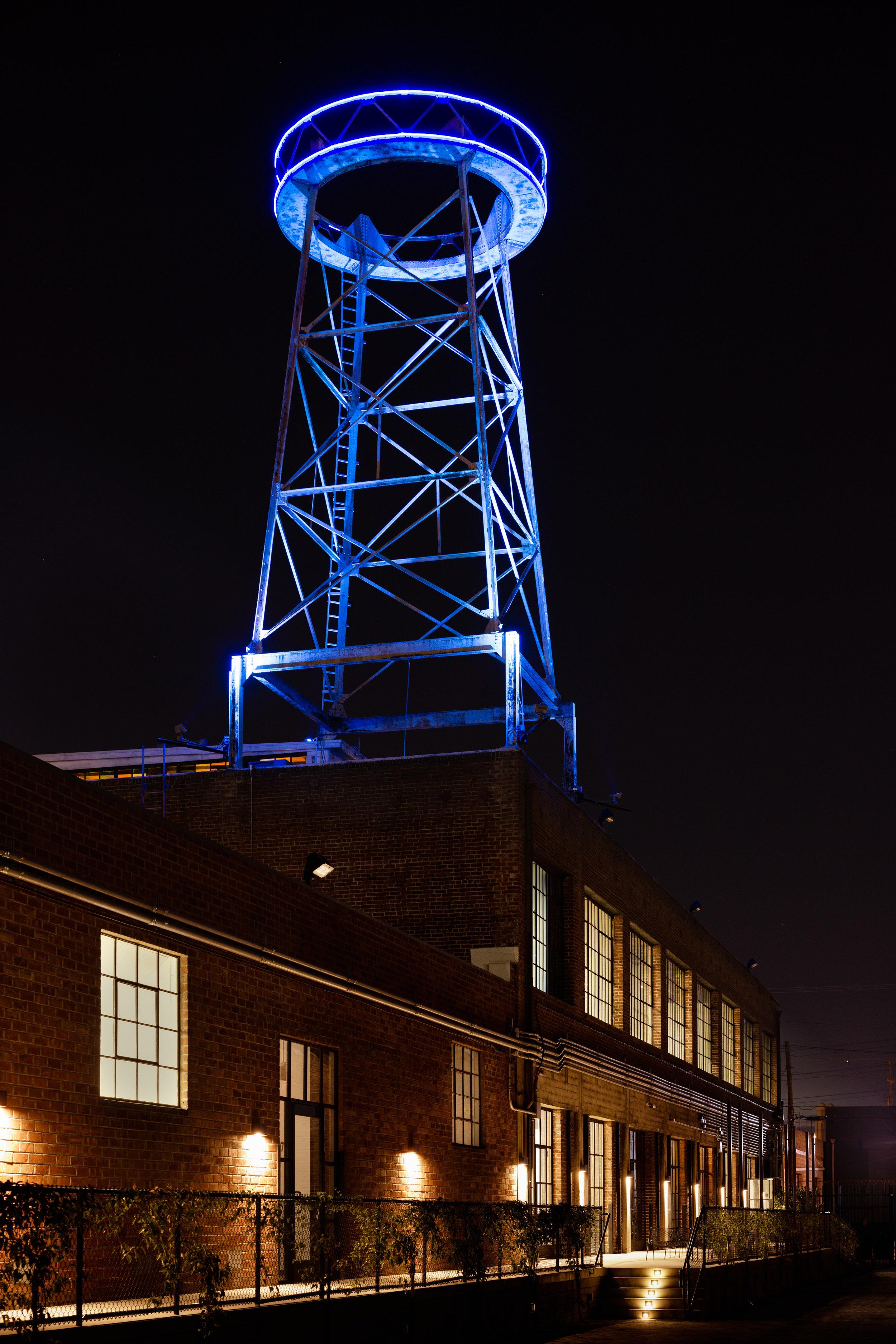 4th street water tower gallery vortex lighting