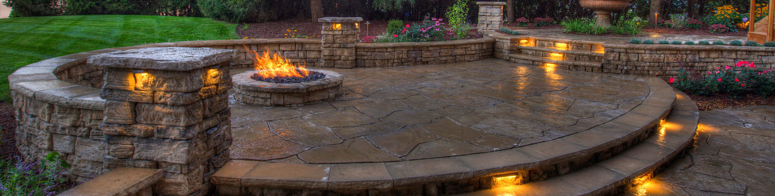 outdoor fireplaces and firepits view