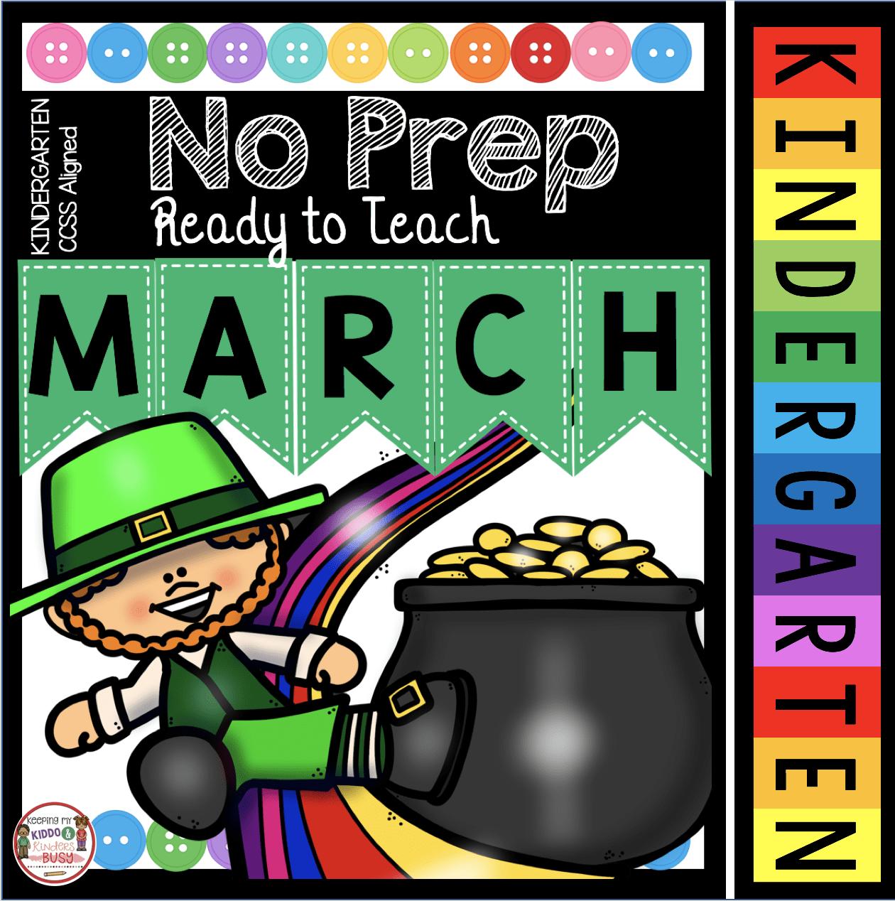 hight resolution of March Math \u0026 ELA Kindergarten Pack - No Prep FREEBIES — Keeping My Kiddo  Busy