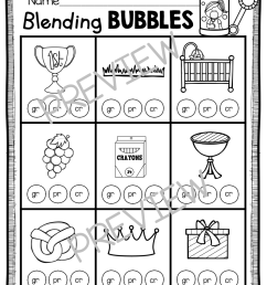 Phonics Unit 5 - Consonant Blends FREEBIE — Keeping My Kiddo Busy [ 1152 x 892 Pixel ]