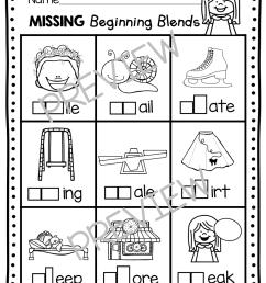 Phonics Unit 5 - Consonant Blends FREEBIE — Keeping My Kiddo Busy [ 1158 x 888 Pixel ]