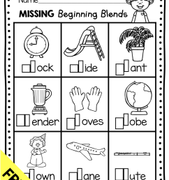 Phonics Unit 5 - Consonant Blends FREEBIE — Keeping My Kiddo Busy [ 1138 x 878 Pixel ]