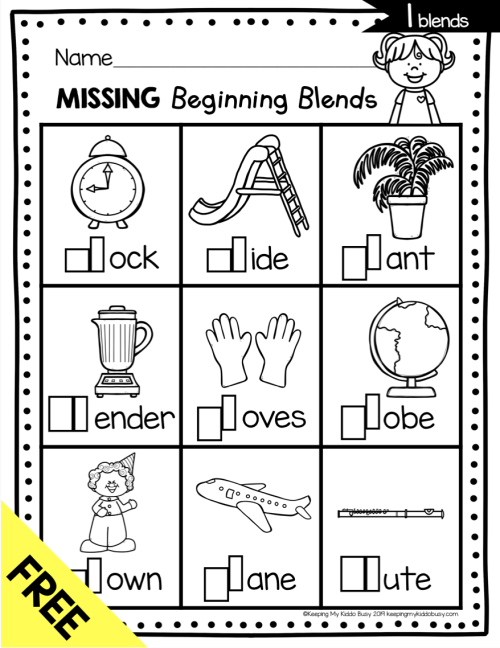 small resolution of Phonics Unit 5 - Consonant Blends FREEBIE — Keeping My Kiddo Busy