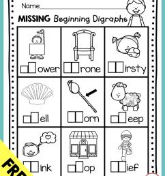 Digraphs - Phonics Unit 6 - FREEBIE — Keeping My Kiddo Busy [ 1066 x 830 Pixel ]