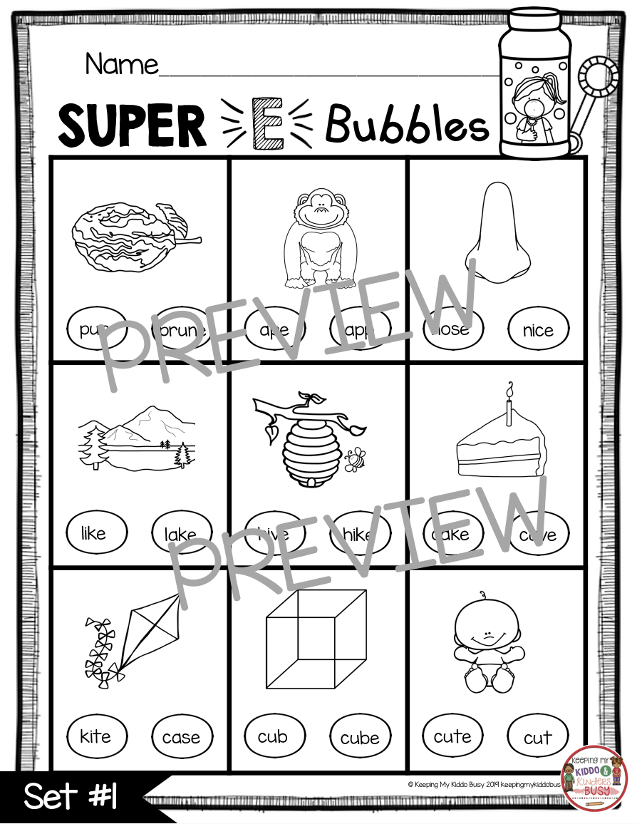 medium resolution of Long Vowels SUPER E Phonics Unit - FREEBIE — Keeping My Kiddo Busy