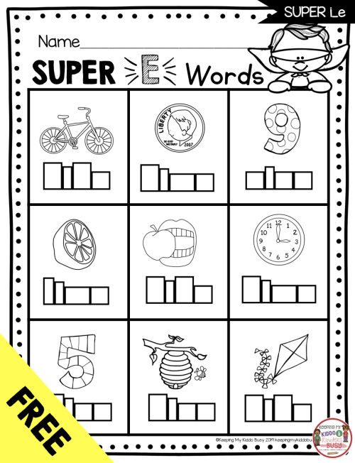 small resolution of Long Vowels SUPER E Phonics Unit - FREEBIE — Keeping My Kiddo Busy