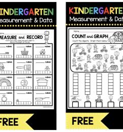 Measurement and Data Kindergarten Math Unit - FREEBIES — Keeping My Kiddo  Busy [ 907 x 1000 Pixel ]