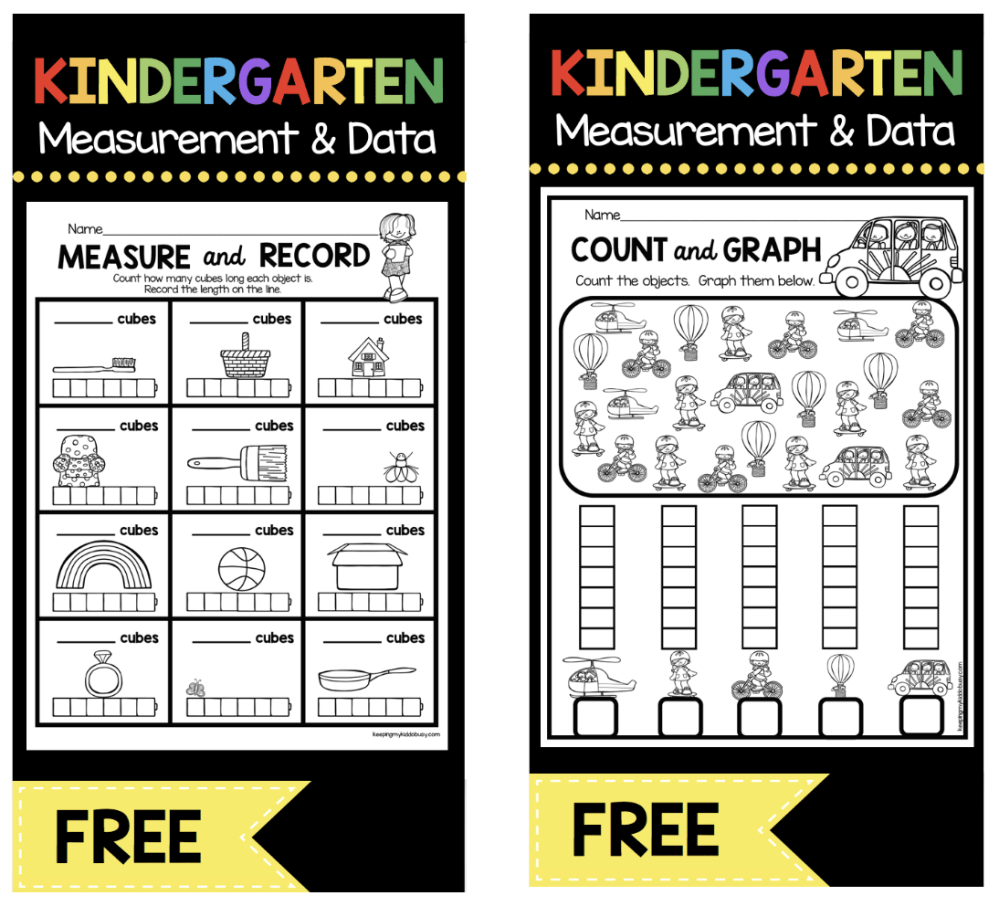 medium resolution of Measurement and Data Kindergarten Math Unit - FREEBIES — Keeping My Kiddo  Busy