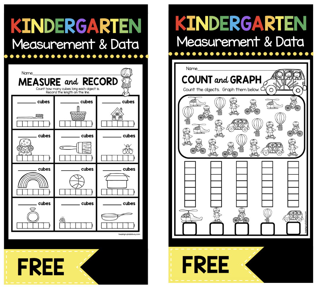 hight resolution of Measurement and Data Kindergarten Math Unit - FREEBIES — Keeping My Kiddo  Busy