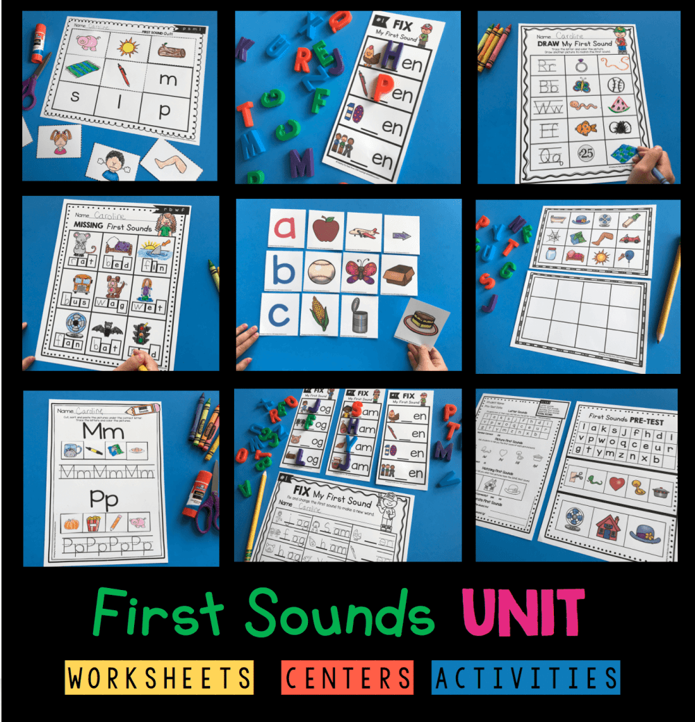 medium resolution of Teaching First Sounds - Complete Unit with FREEBIES — Keeping My Kiddo Busy