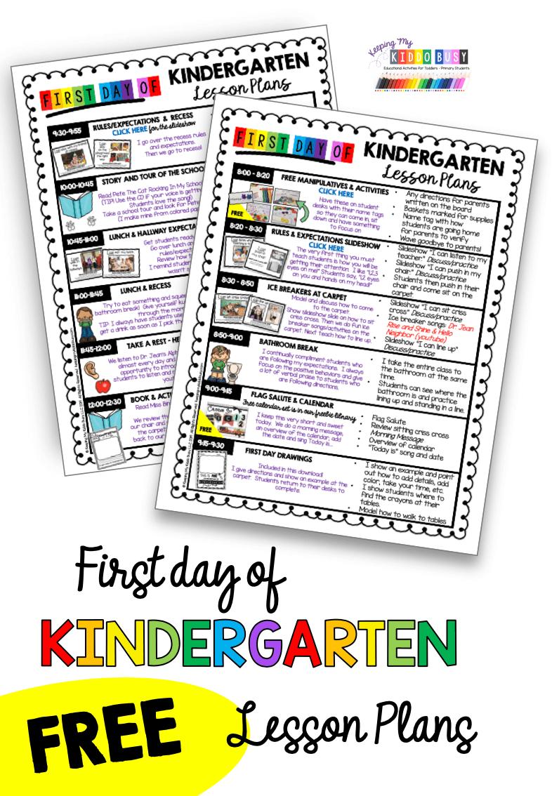 medium resolution of First Week in Kindergarten — Keeping My Kiddo Busy