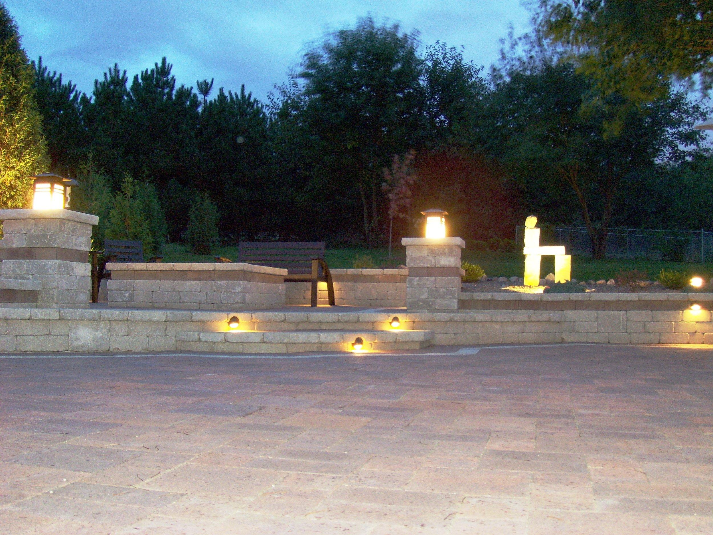 landscape lighting safety security