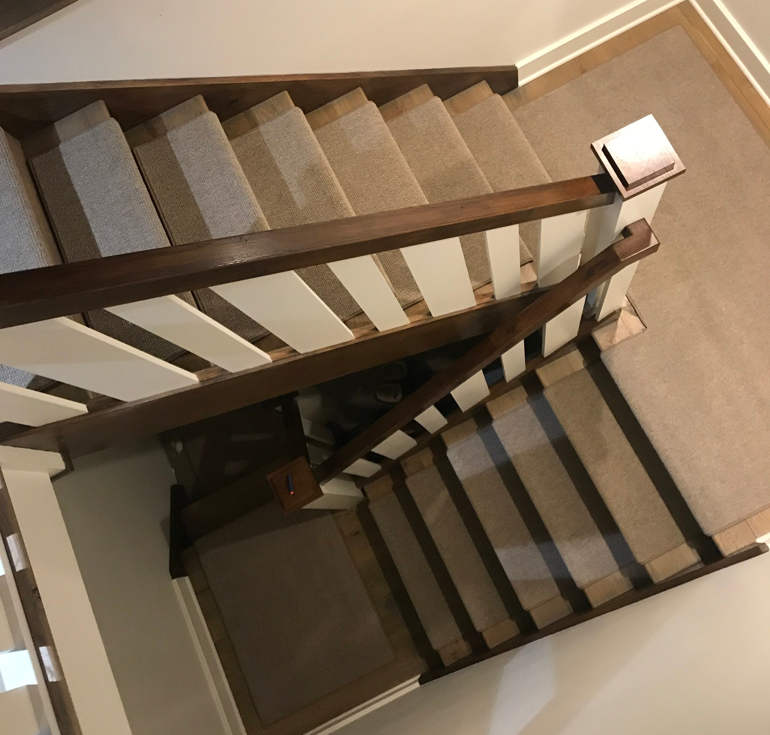 Indoor Carpet Stair Treads Oak Valley Designs | Designer Carpet For Stairs | Stair Railing | Farmhouse | Classical Design | Style New York | Rectangular Cord Treads