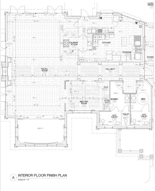 small resolution of micamy design studio interior design beacon lake amenity center clubhouse new england style nautical hallway barrel ceiling pendants herringbone