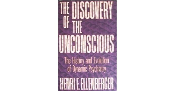 """Image Description: purple book cover with some textured pattern in the background, with white block lettering that says """"The Discovery of The Unconscious: The History and Evolution of Dynamic Psychiatry"""" with the author's name below."""
