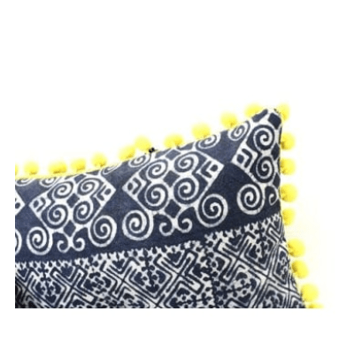 small batik oasis pillow cover available in yellow pink la bella vita interiors