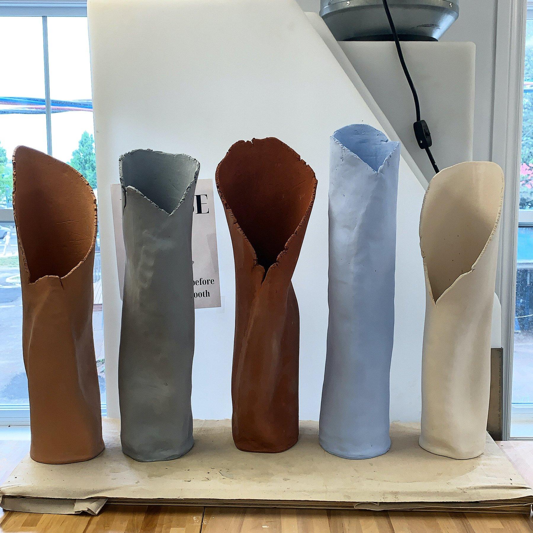 Matt Cripps' 5 Crackling Vases before the Miramichi piece slumped over.