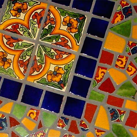 mexican tile mosaic tabletop connie