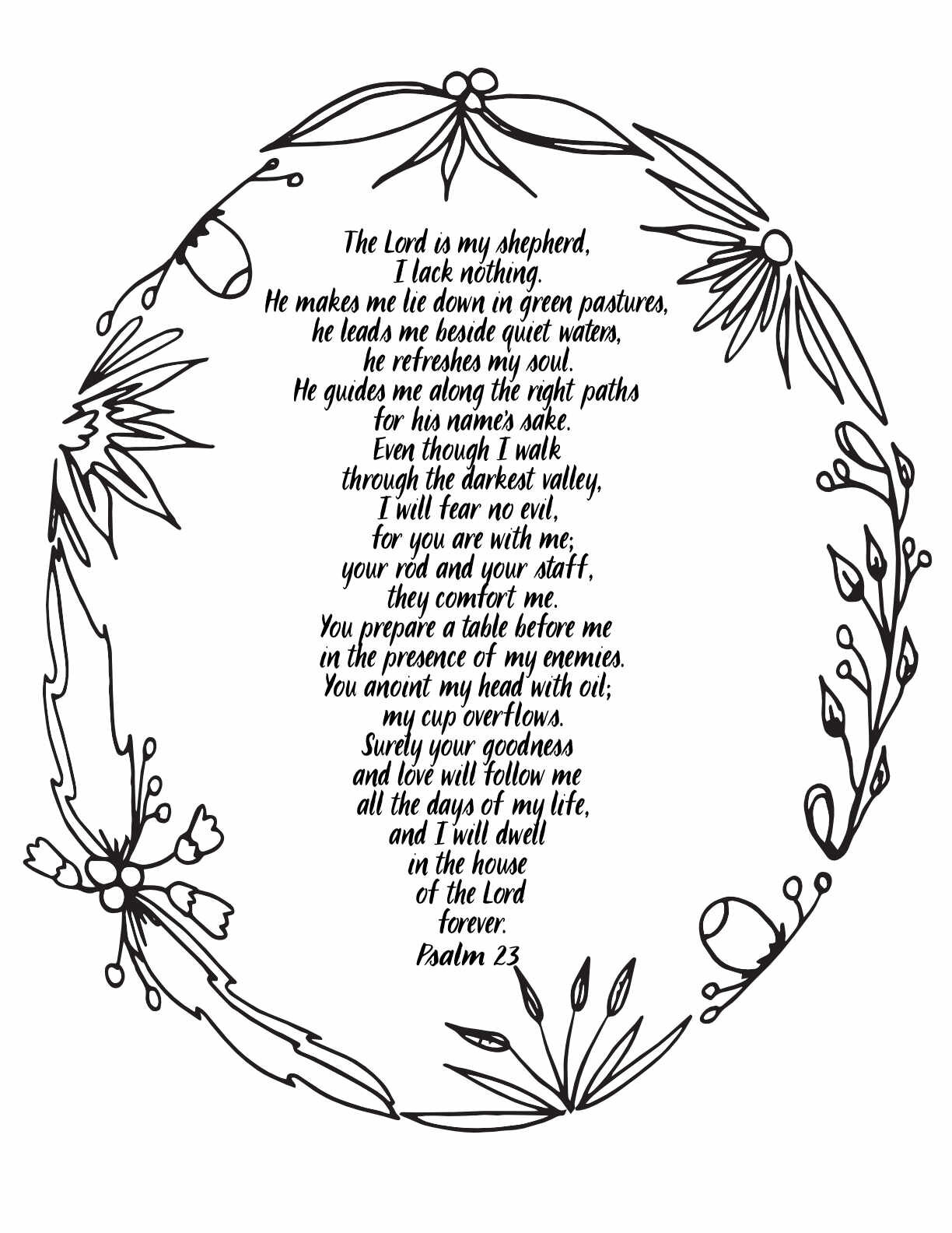 Faerlmarie Coloring Pages: 31 Psalm 23 Coloring Pages