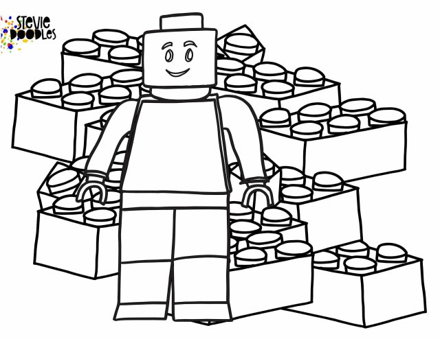 Free Lego Coloring Pages! — Stevie Doodles Free Printable Coloring