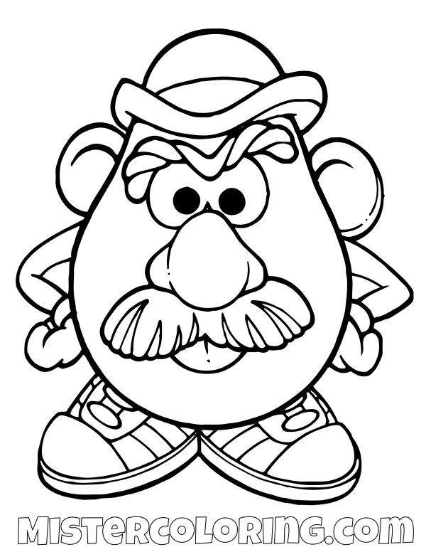 mr potato head coloring pages # 6