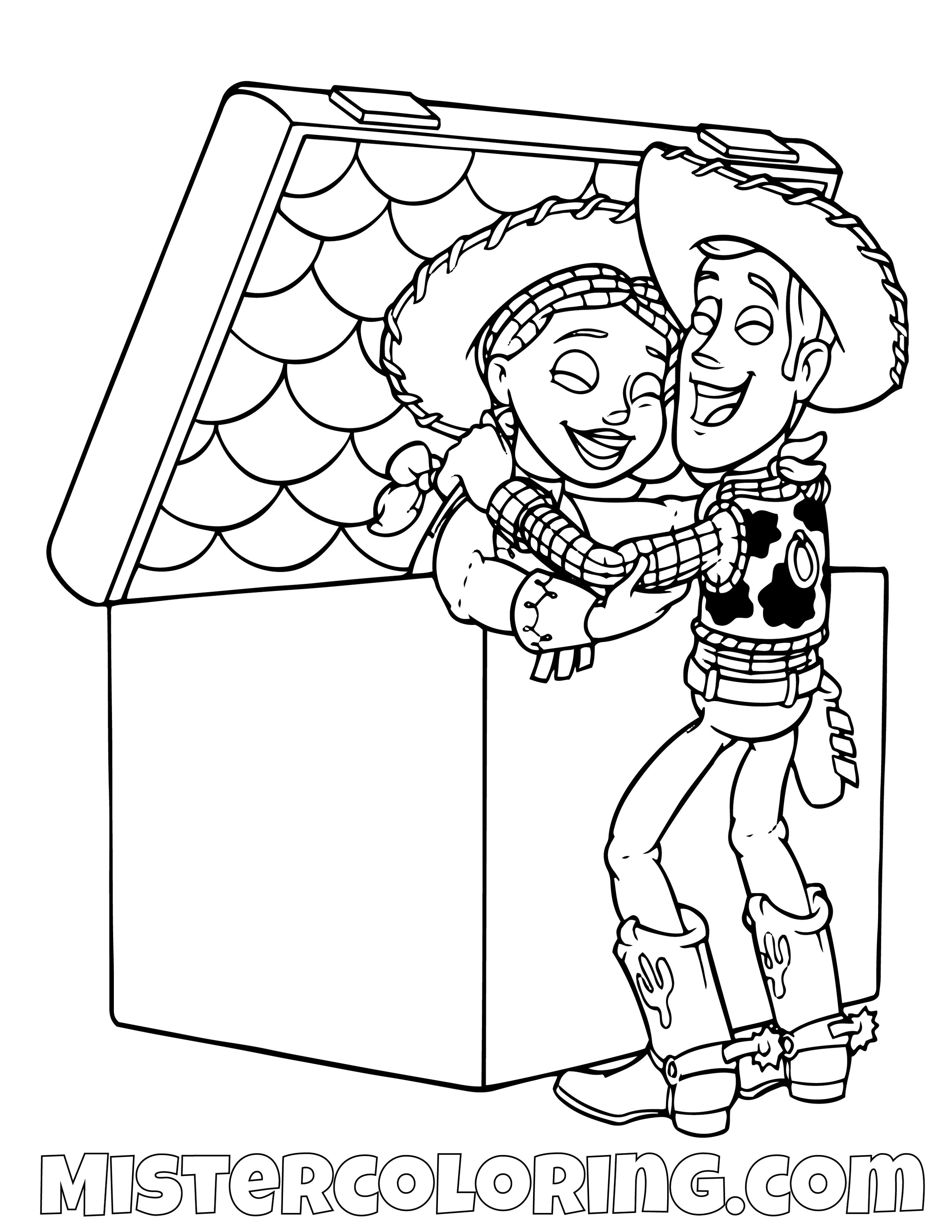 Toy Story Coloring Page For Kids — Mister Coloring