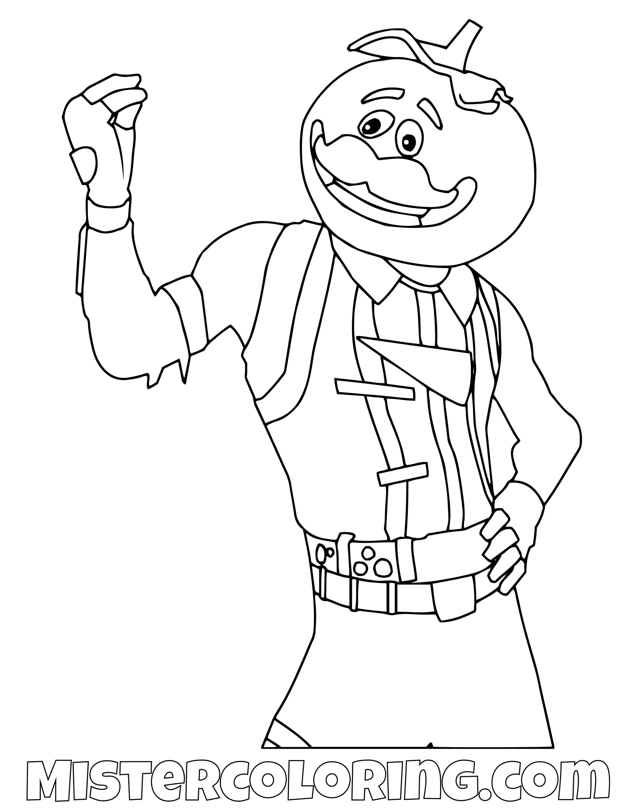 Level 1 Omega Fortnite Coloring Pages Peely