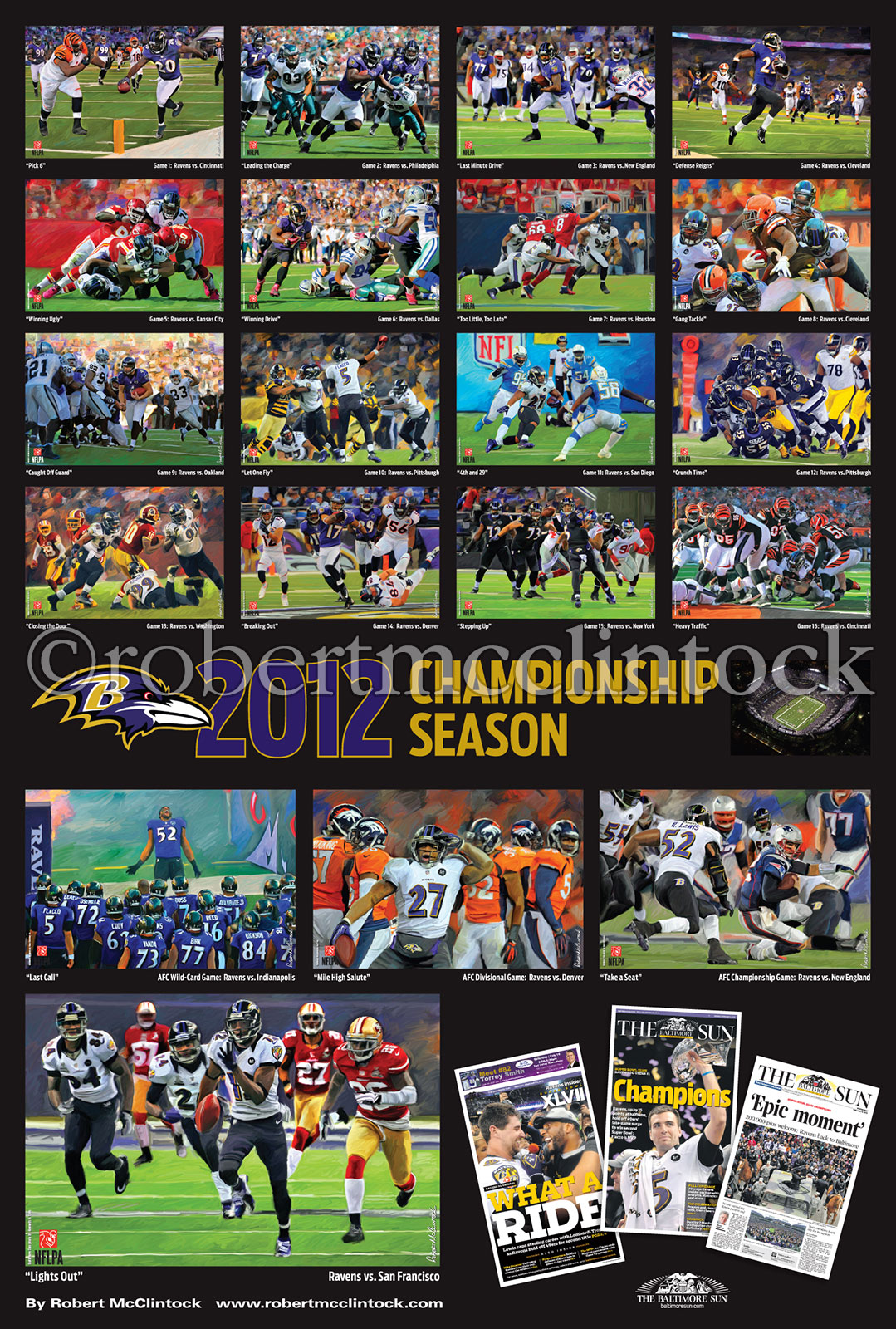 ravens 2012 championship poster montage robertmcclintock com