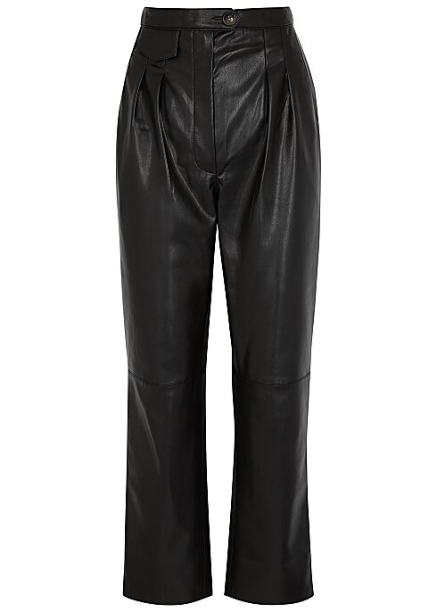 NANUSHKA Mitsu black faux leather trousers HK$2,870