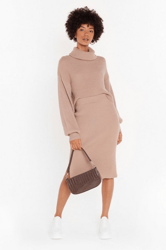 Nasty Gal Ain't Knit the Life Ribbed Knitted Midi Skirt US$30 (~HK$235)