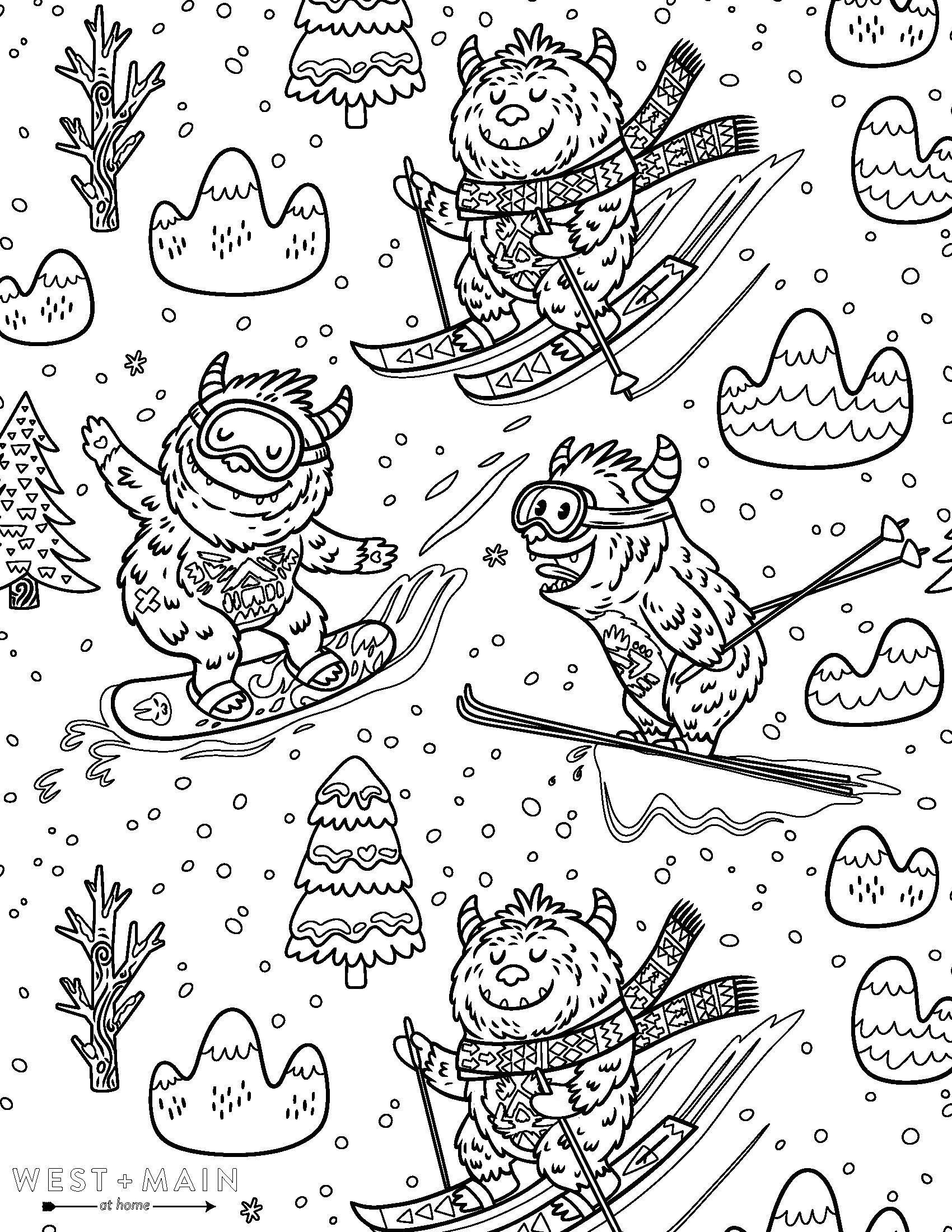 Stay Home + Color! Download West + Main Coloring Sheets to