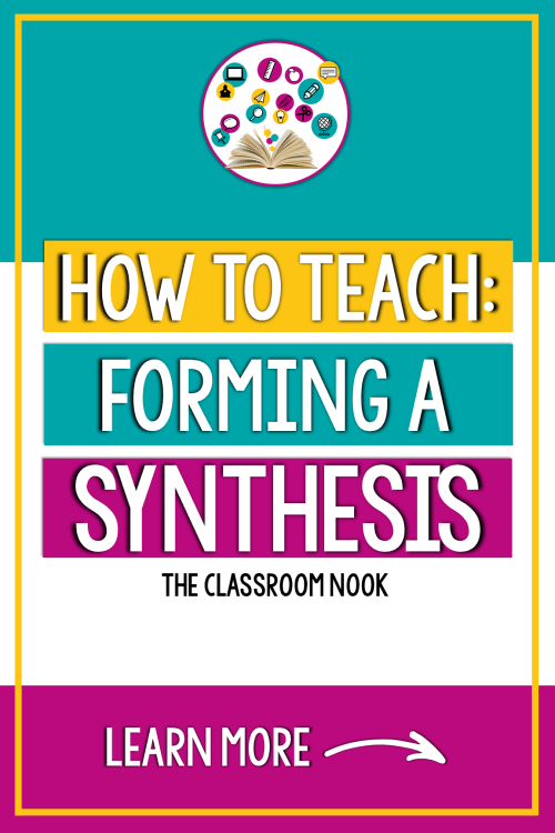 small resolution of Reading Comprehension Strategy Series: How to Teach Students to Synthesize  While Reading — THE CLASSROOM NOOK