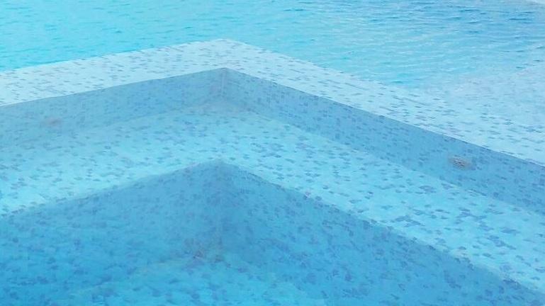pool waterline tile and toe tile