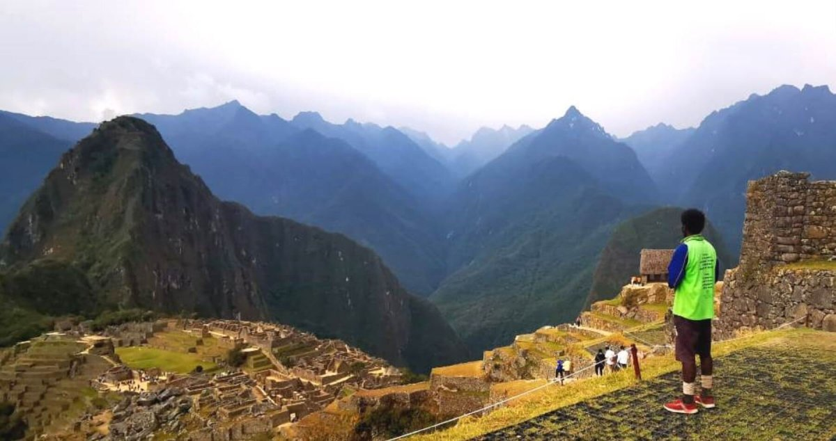 En Machu Picchu.