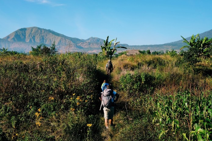 On The Roof Of Indonesia Mount Rinjani Old Roads