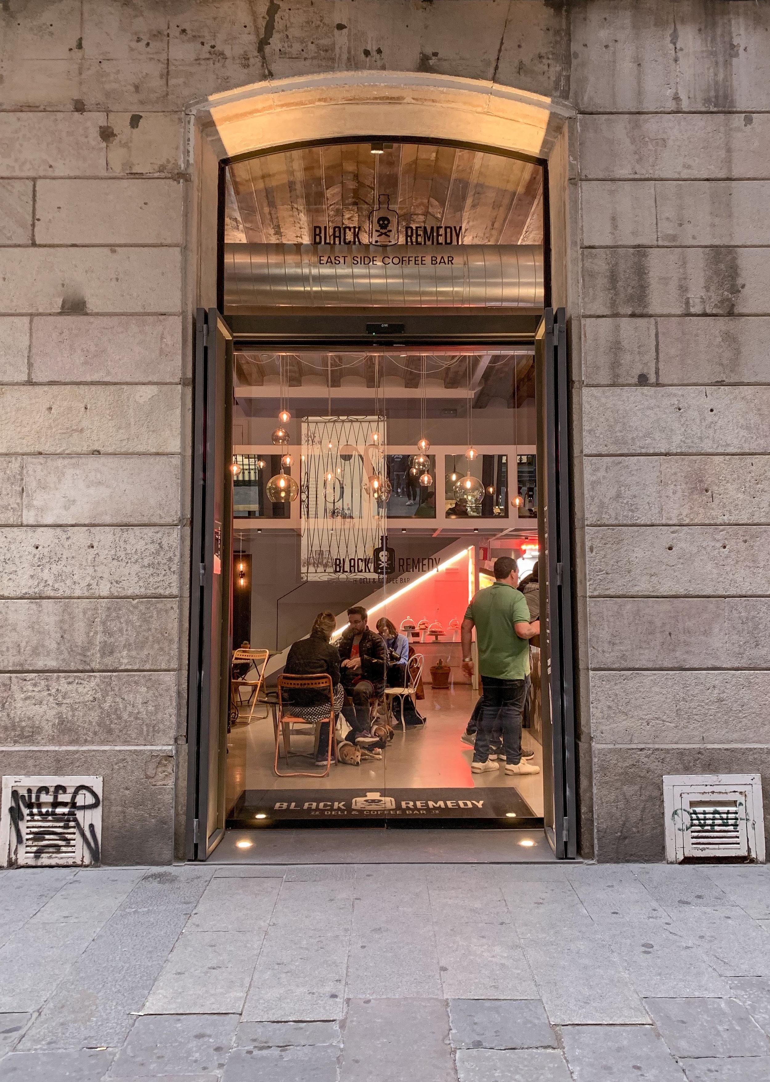 caffeine fix in Barcelona