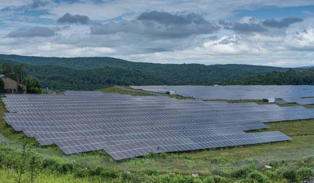 The present-day mine site hosts a large solar array. (Provided / Todd Binzen)