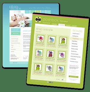 website design concept it