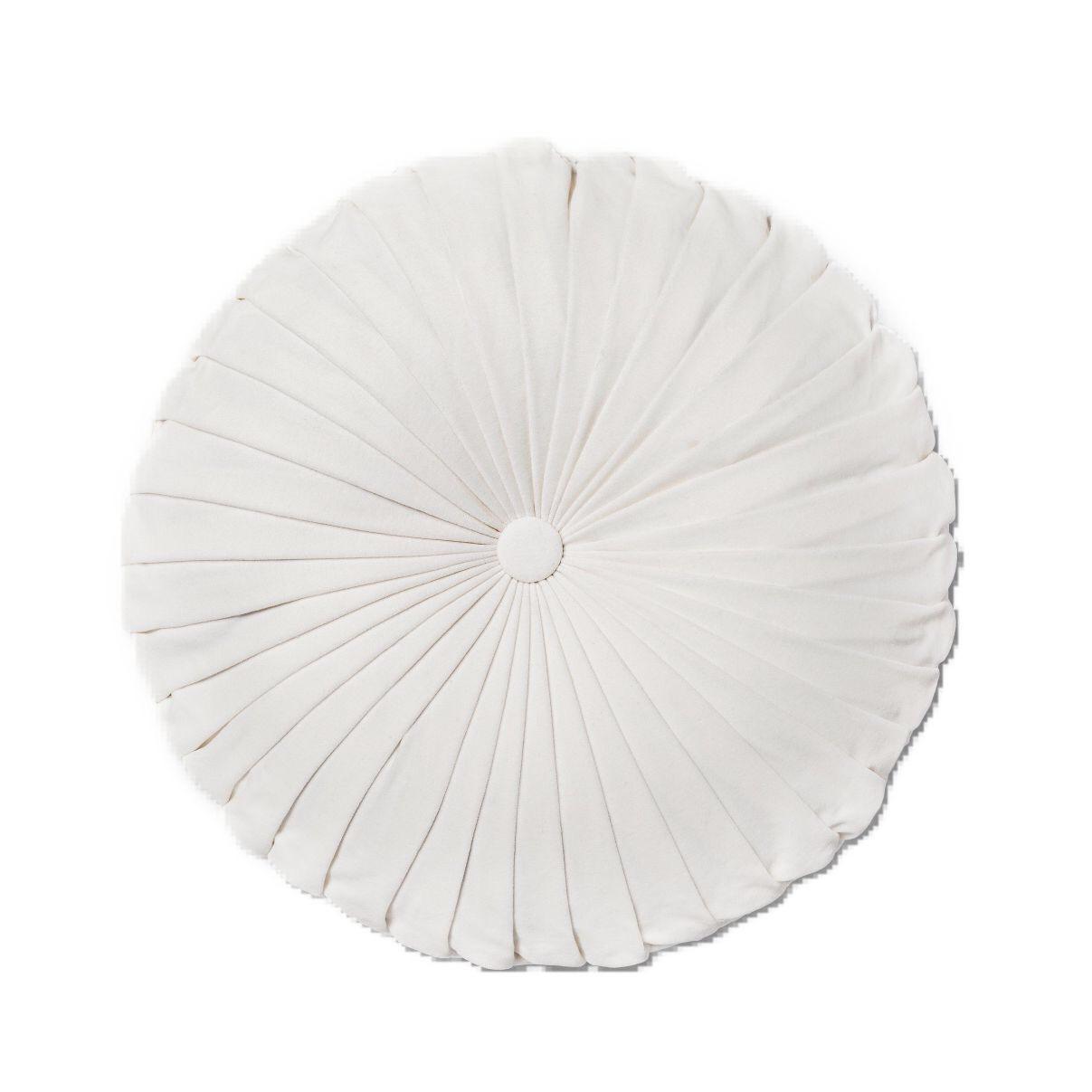 rent round white velvet pillow let s party prettier
