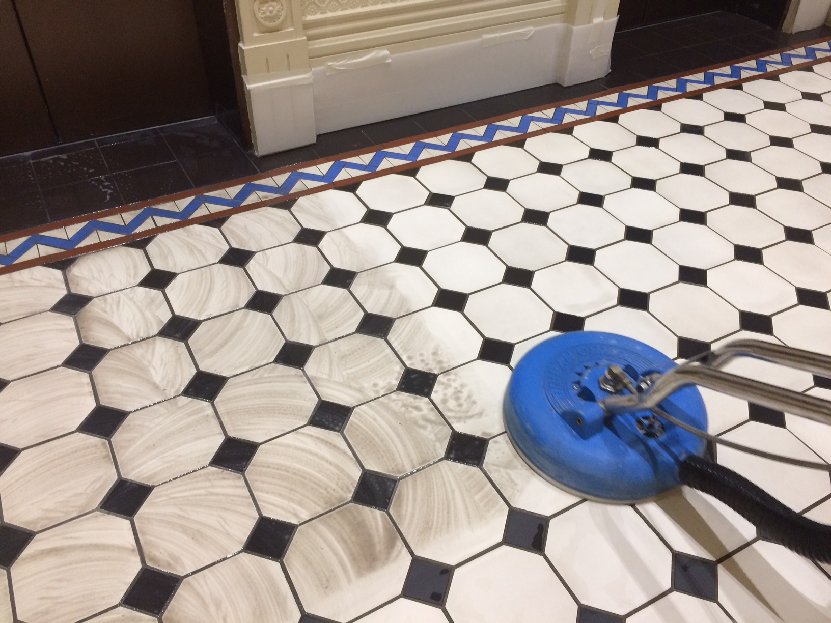 clean tile and grout tile grout