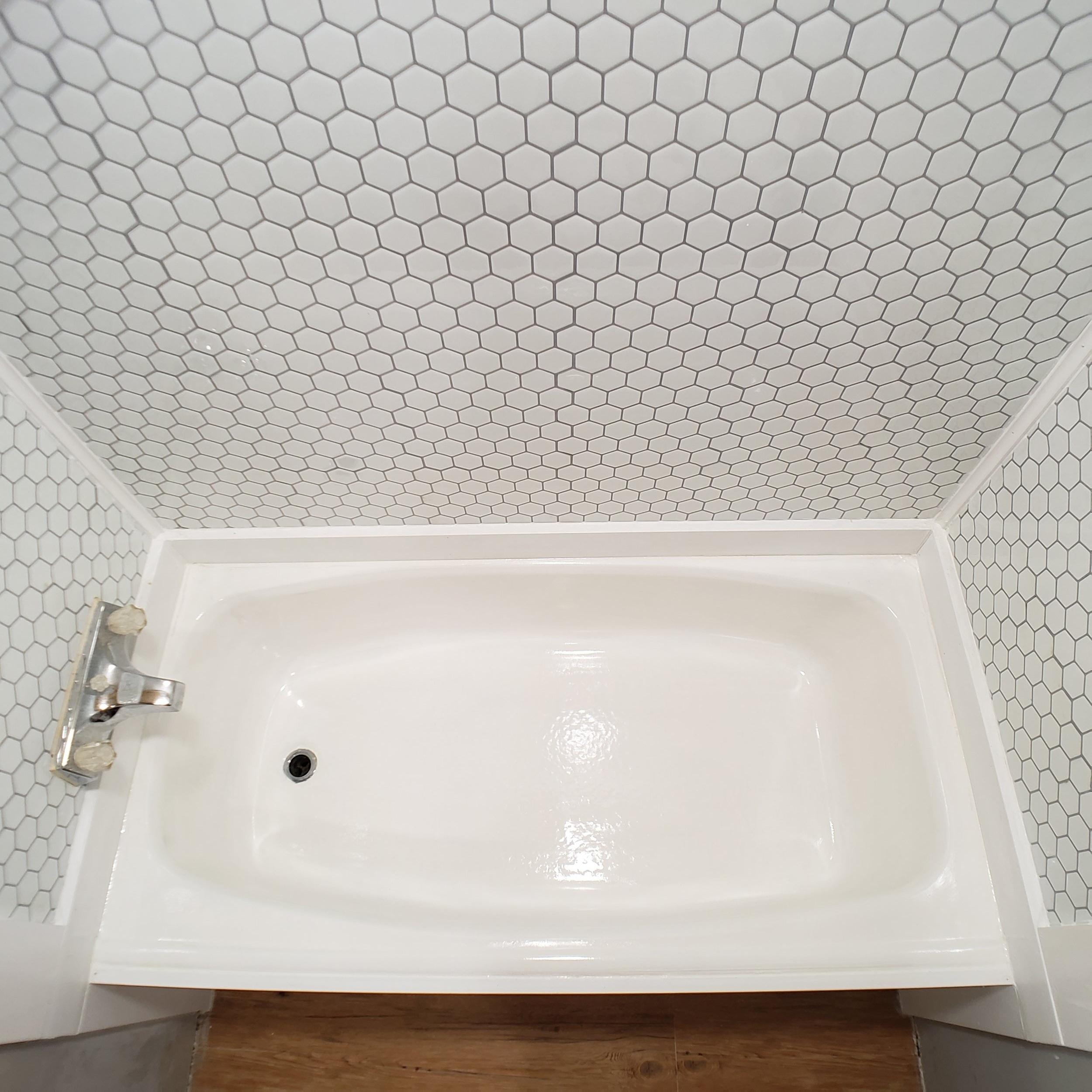 diy peel and stick tile shower