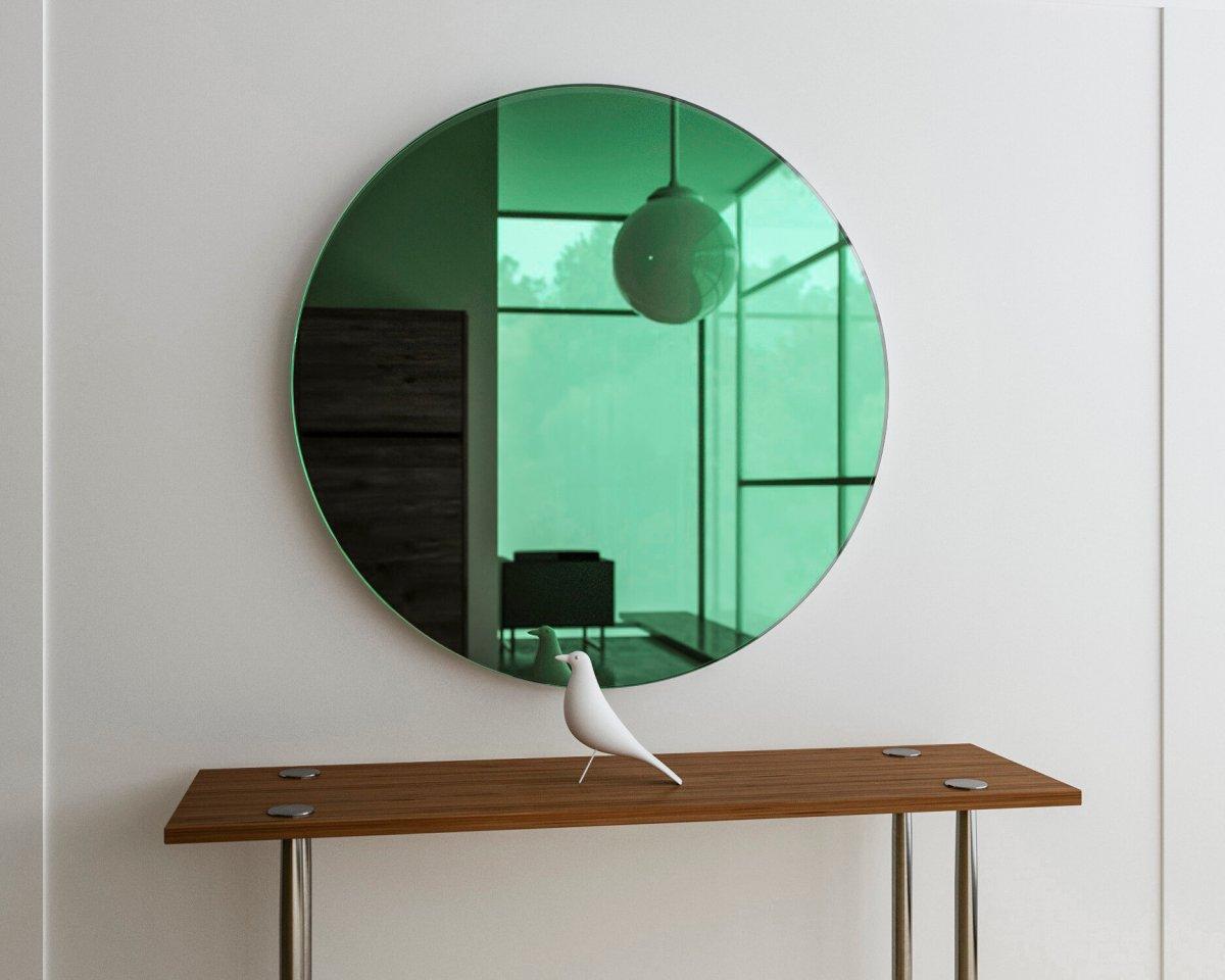 Round Green Mirror