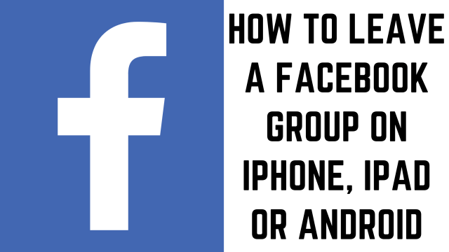 How to Leave a Facebook Group — Max Dalton Tutorials