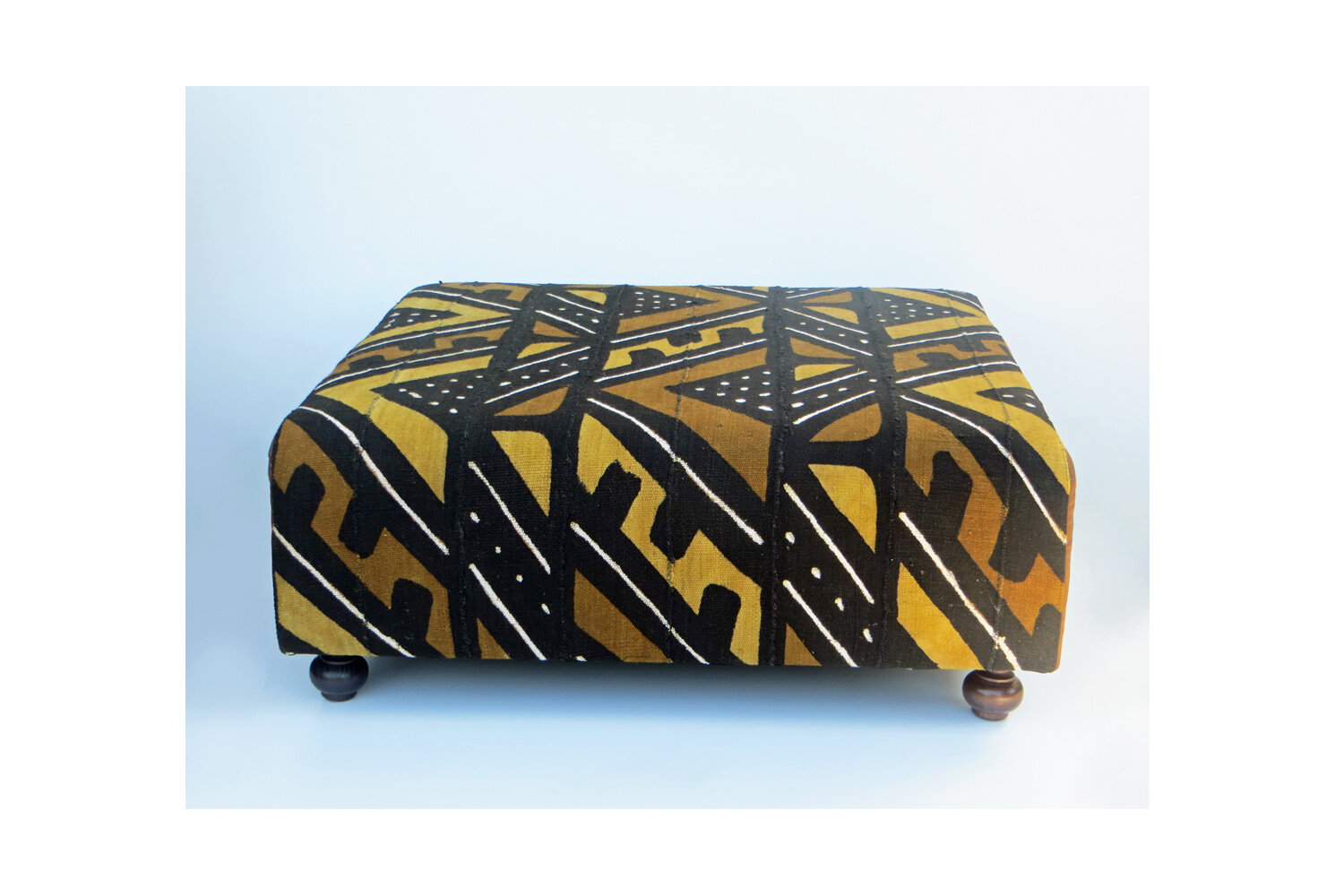 oversized ottoman pouf table tribal traces