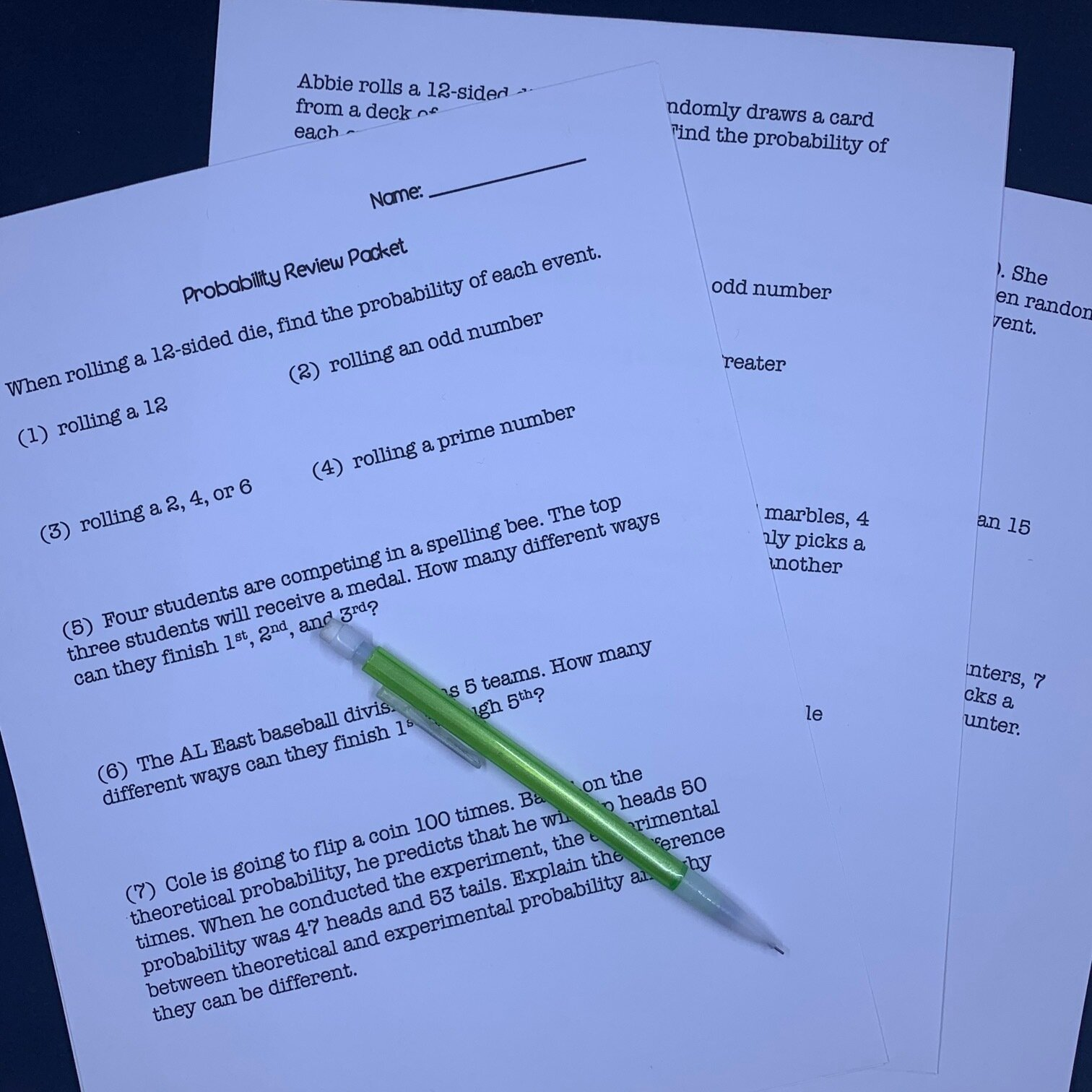 hight resolution of Review Packet Activities for Middle School Math — Middle School Math Man