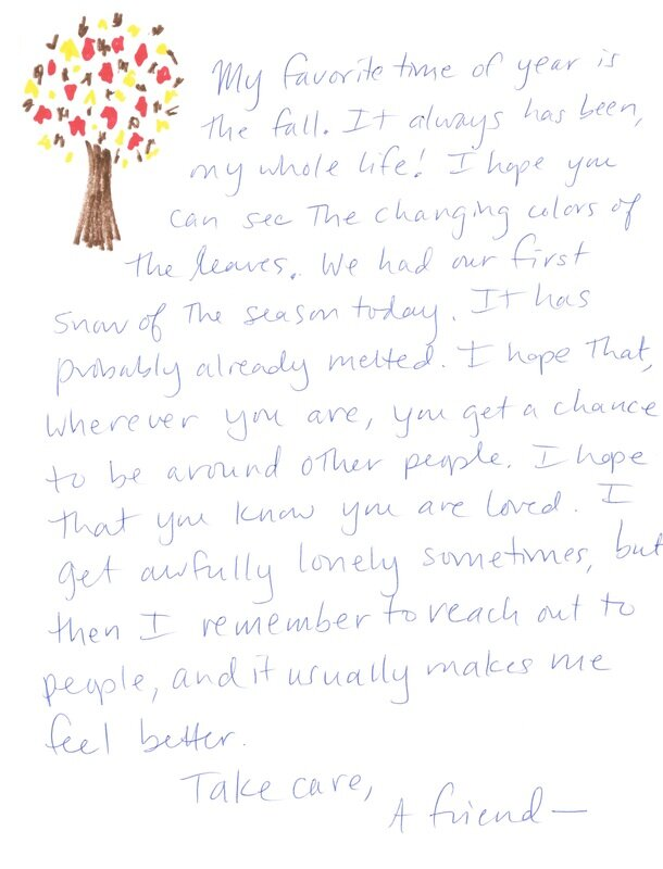 Letters of Love — Love for the Elderly