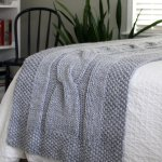 Cable Bed Runner Blanket Knitting Pattern For Super Bulky Yarn River Of Dreams Fifty Four Ten Studio