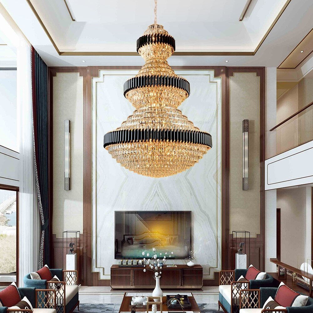 large luxury foyer crystal chandelier eleglam
