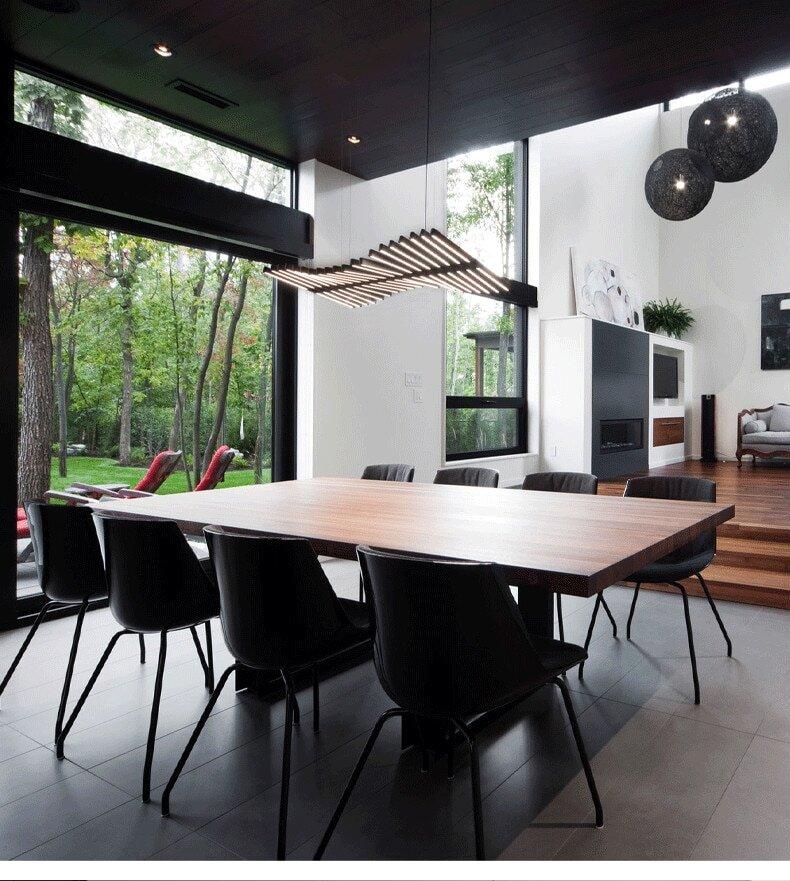 long table designer ceiling lighting eleglam